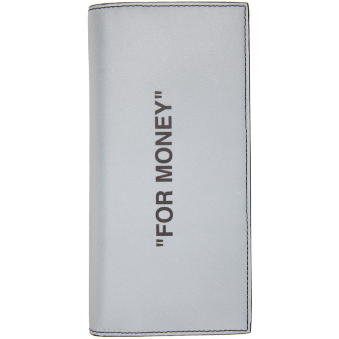 Photo: Off-White Silver Quote Yen Wallet