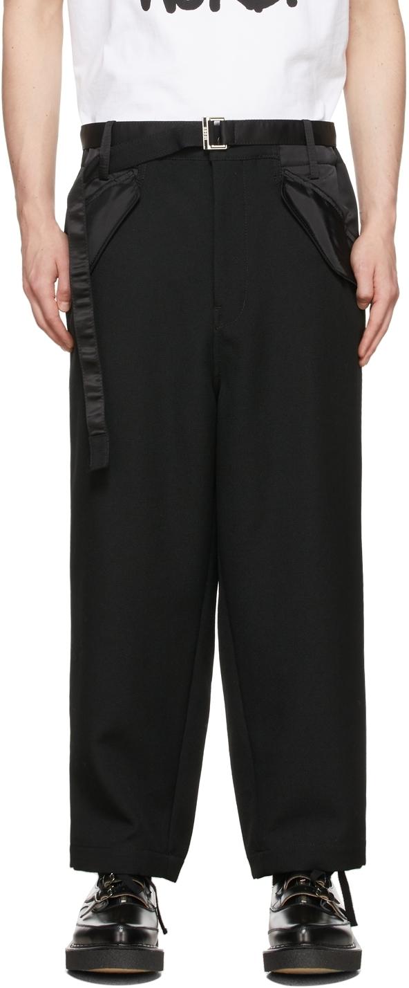 Photo: Sacai Black Wool & Nylon Trousers