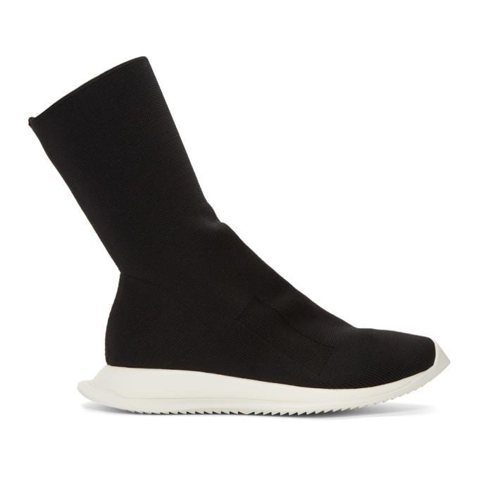 Photo: Rick Owens Drkshdw Black New Runner Sock Sneakers