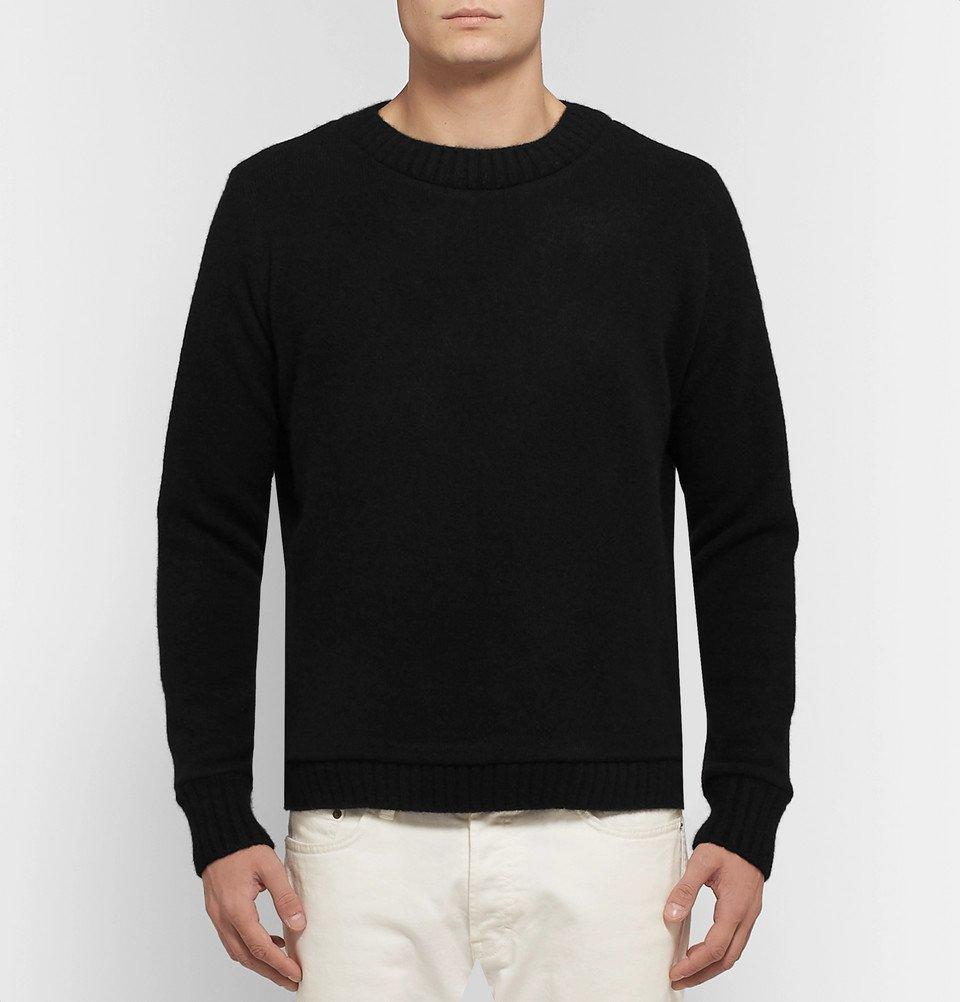 The Elder Statesman - Christmas Light Palm Intarsia Cashmere Sweater - Black