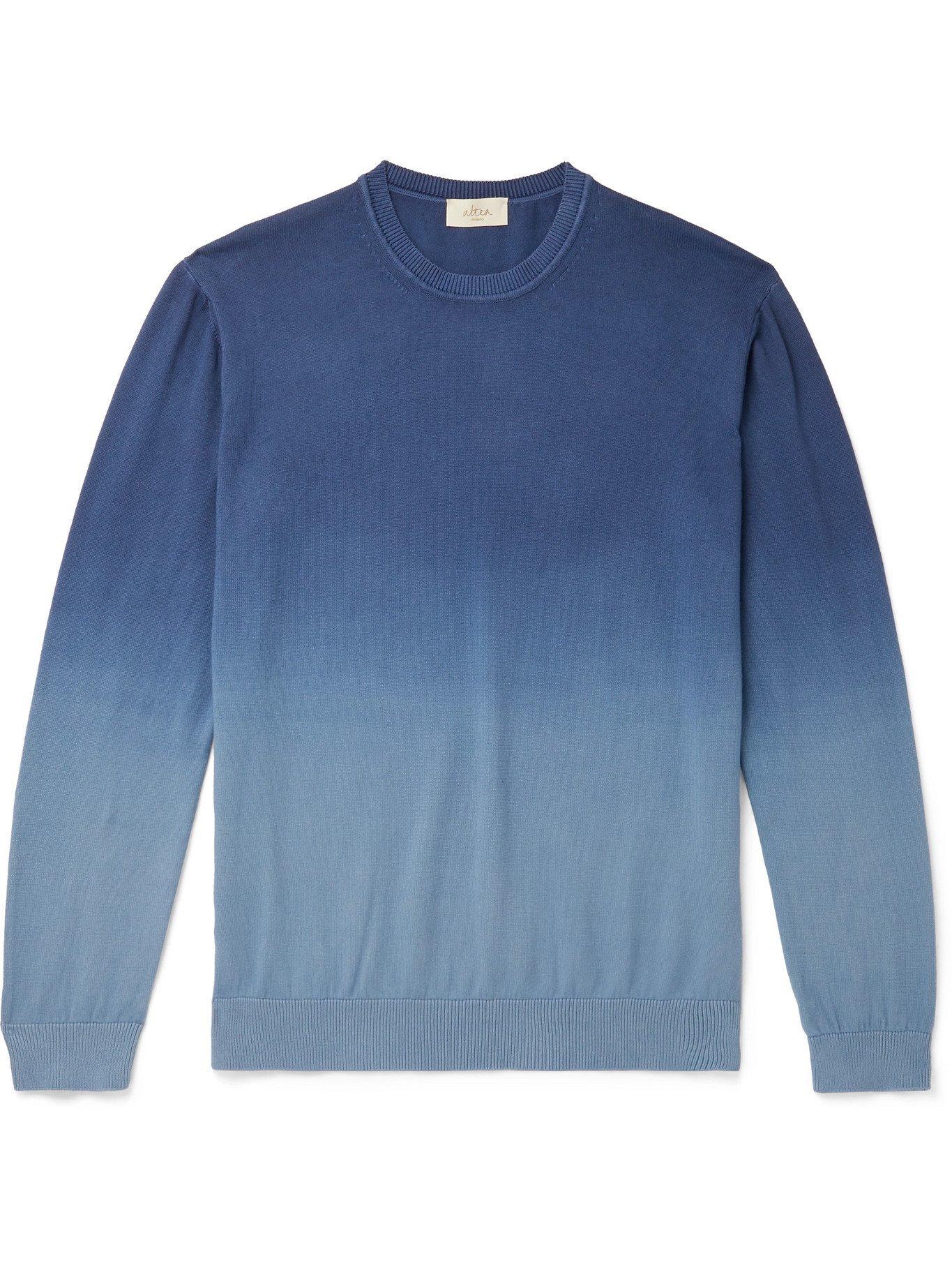 ALTEA - Dégradé Cotton Sweater - Blue