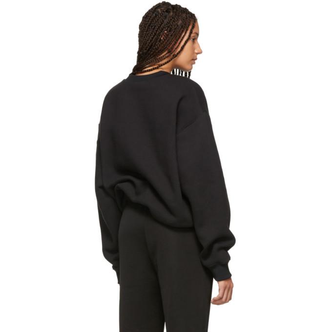 alexanderwang.t Black Dense Fleece Sweatshirt