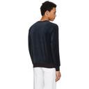 3.1 Phillip Lim Navy Velour Sweatshirt