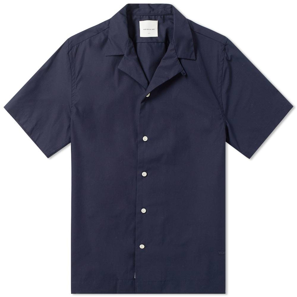 Photo: Wood Wood Brandon Plain Vacation Shirt