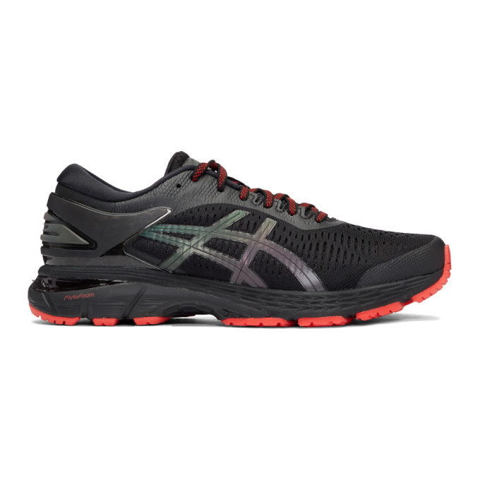 Photo: Asics Black Gel-Kayano 25 Lite-Show Sneakers