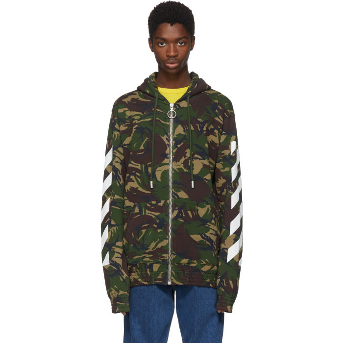 Photo: Off-White Multicolor Camouflage Diagonal Hoodie