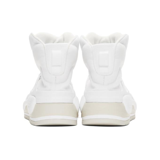 Y-3 White Hokori High-Top Sneakers