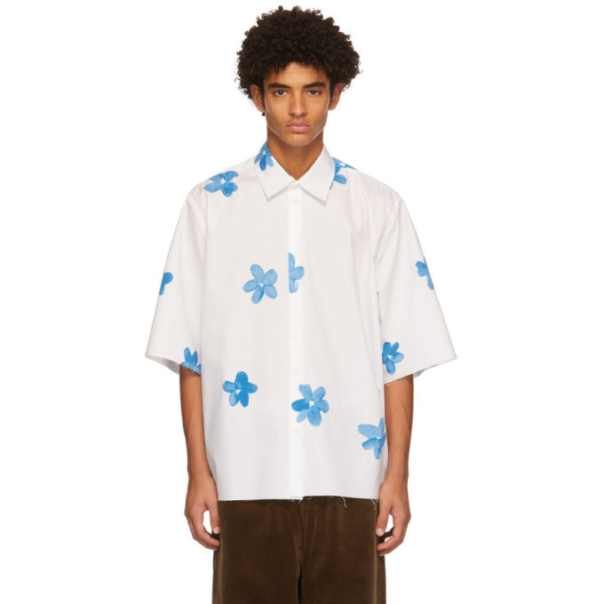 Photo: Camiel Fortgens SSENSE Exclusive White Flower Short Sleeve Shirt