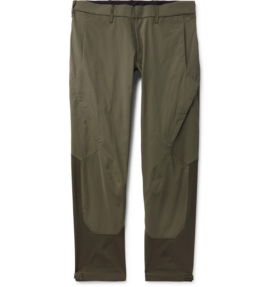 Photo: Arc'teryx Veilance - Apparat Slim-Fit Cotton and Nylon-Blend Trousers - Army green