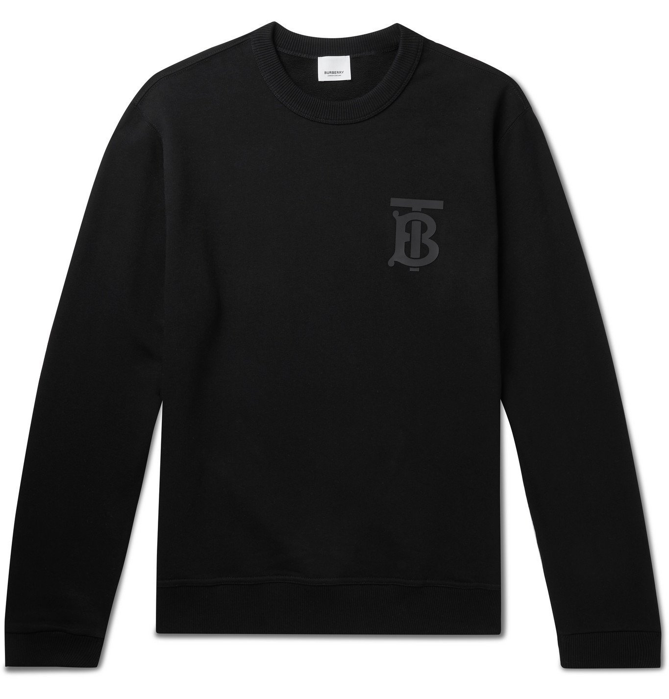Photo: Burberry - Logo-Print Loopback Cotton-Jersey Sweatshirt - Black