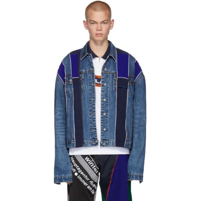 Photo: Ahluwalia Studio Blue Patchwork Denim Jacket