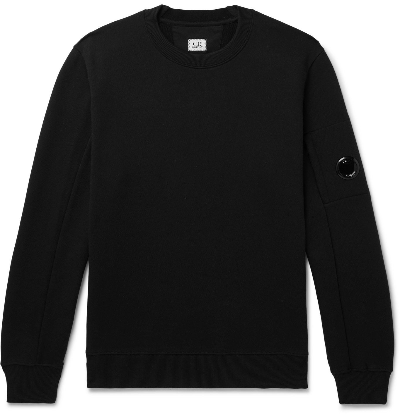 Photo: C.P. Company - Loopback Cotton-Jersey Sweatshirt - Black
