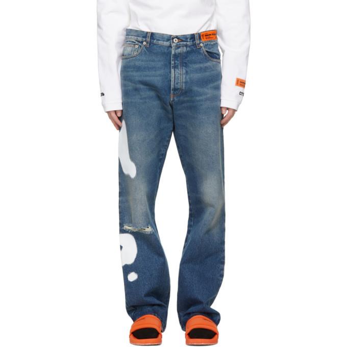 Photo: Heron Preston Blue Five-Pocket Jeans