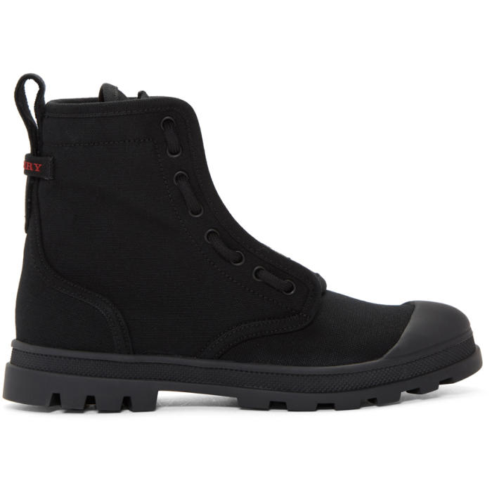 Photo: Burberry Black Lismore Lace-Up Boots