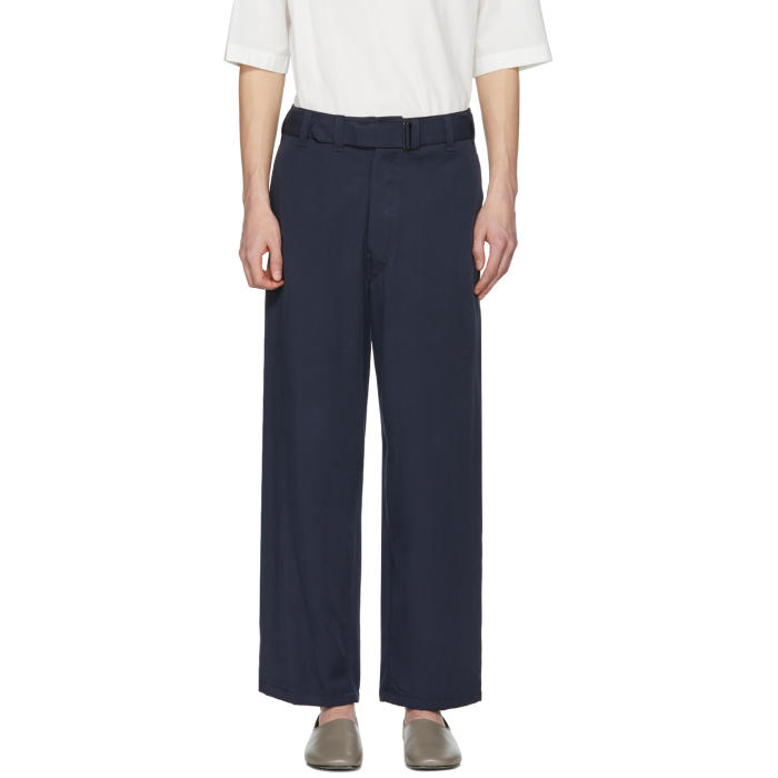 Photo: Lemaire Navy Belted Trousers