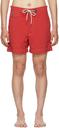 RRL Red Twill Drawstring Swim Shorts