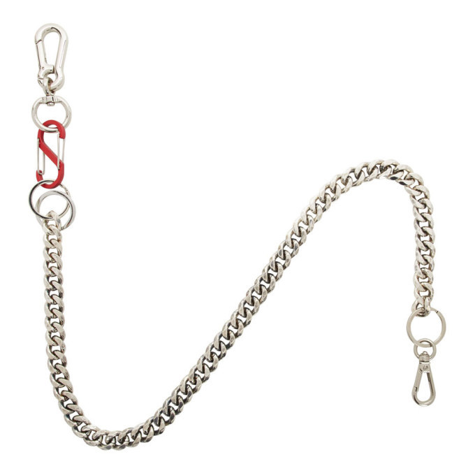 Photo: Martine Ali Silver and Red Cuban Wallet Chain