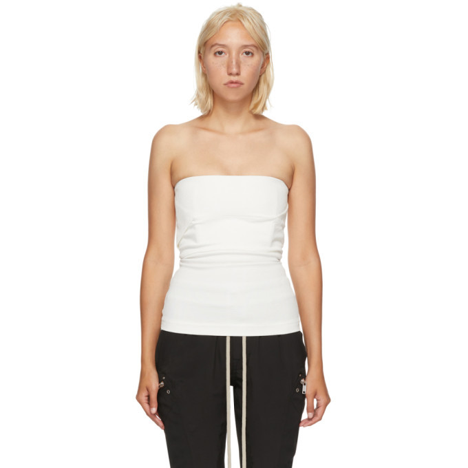 Photo: Rick Owens White Cotton Bustier