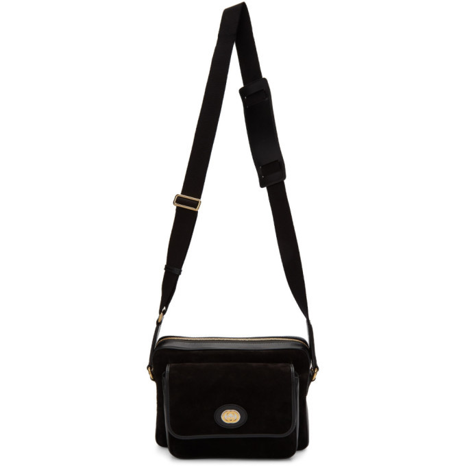 Photo: Gucci Black Suede Messenger Bag