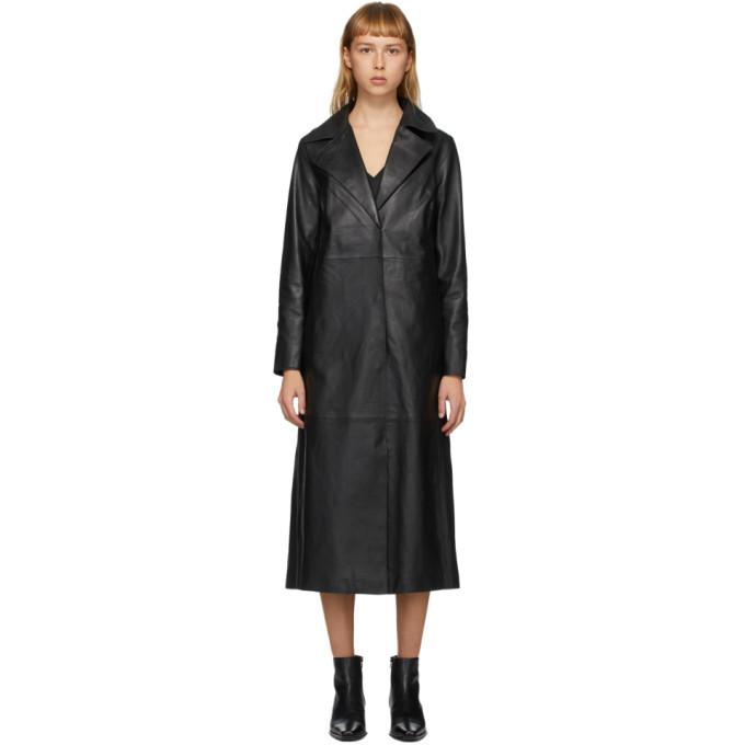 Photo: Stand Studio Black Melissa Leather Coat