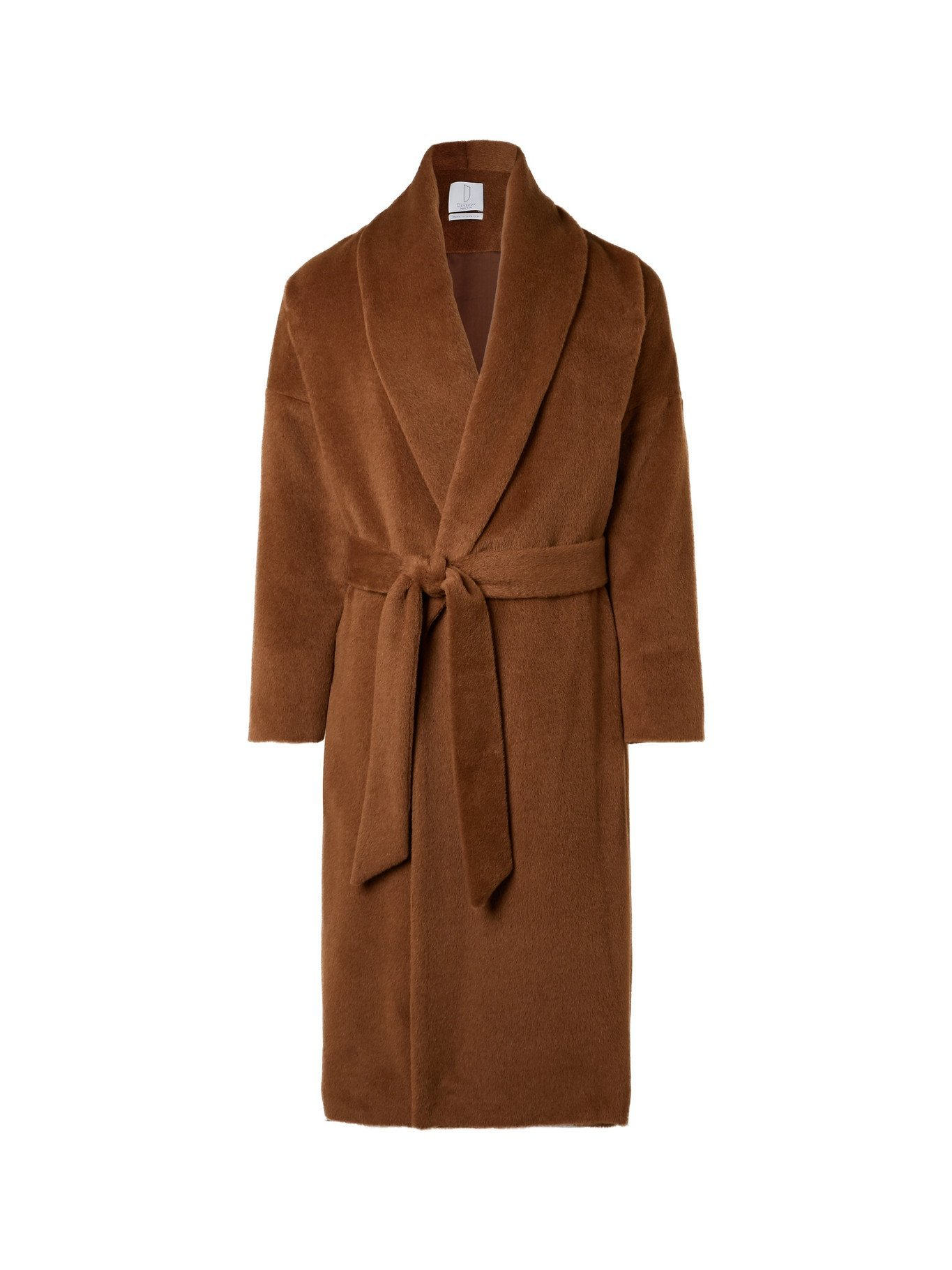 Photo: DEVEAUX - Belted Alpaca and Wool-Blend Coat - Brown