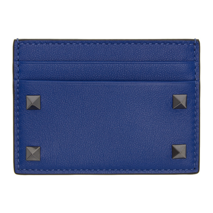 Photo: Valentino Blue Valentino Garavani Rockstud Card Holder