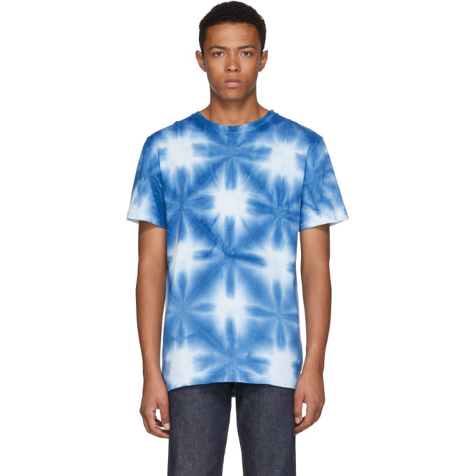 Photo: Blue Blue Japan Blue and White Snowflake Tie-Dye T-Shirt