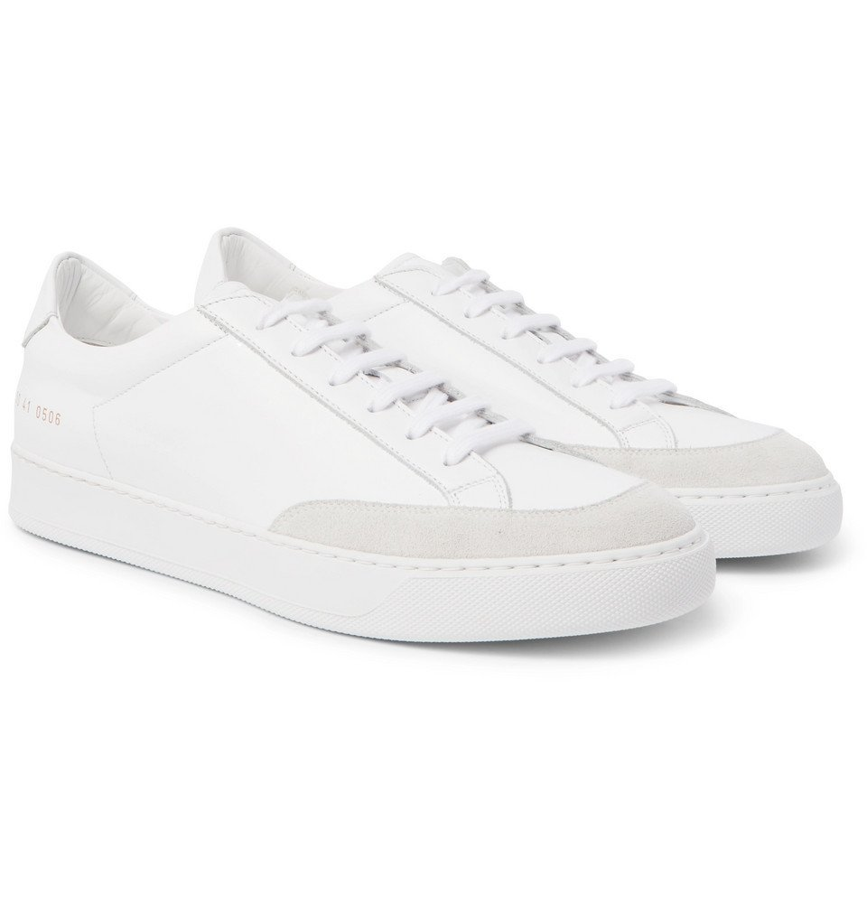 Common Projects - Tennis Pro Suede-Trimmed Leather Sneakers - Men - White