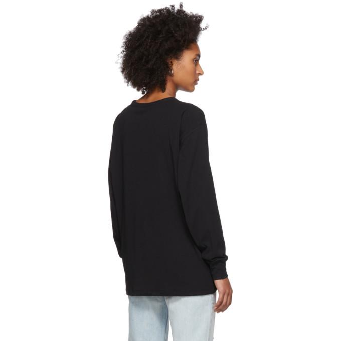 alexanderwang.t Black Tilted Pocket Long Sleeve T-Shirt