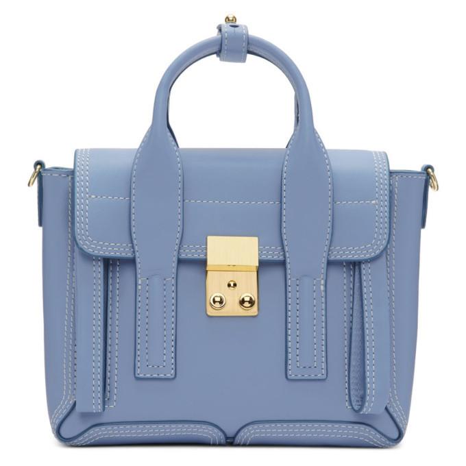 3.1 Phillip Lim SSENSE Exclusive Blue Mini Pashli Satchel