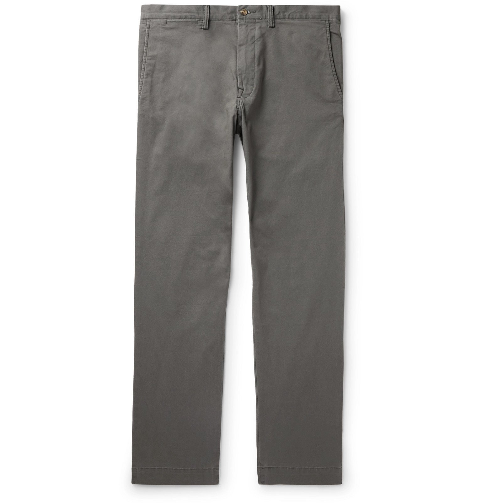 Photo: Polo Ralph Lauren - Bedford Slim-Fit Stretch-Cotton Twill Chinos - Gray