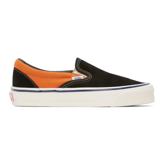 Photo: Vans Orange and Black OG Classic Slip-On LX Sneakers
