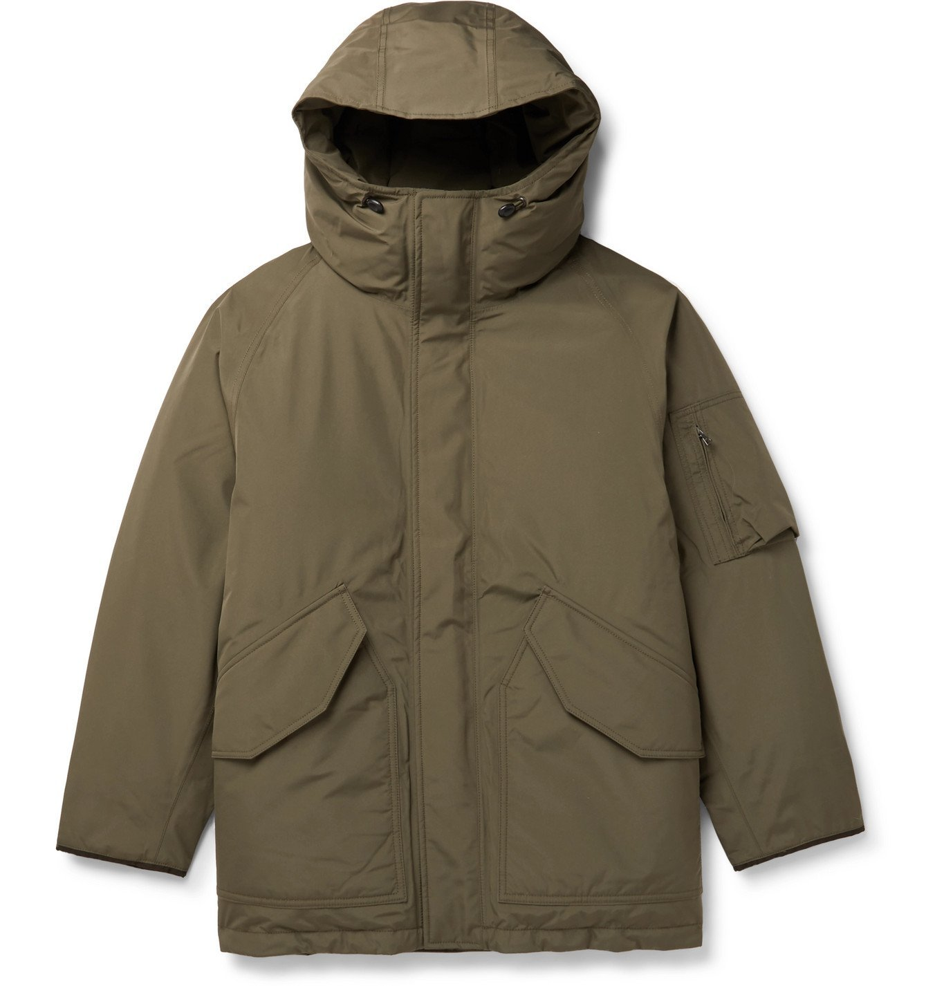 Photo: nanamica - Padded GORE-TEX Hooded Down Parka - Green