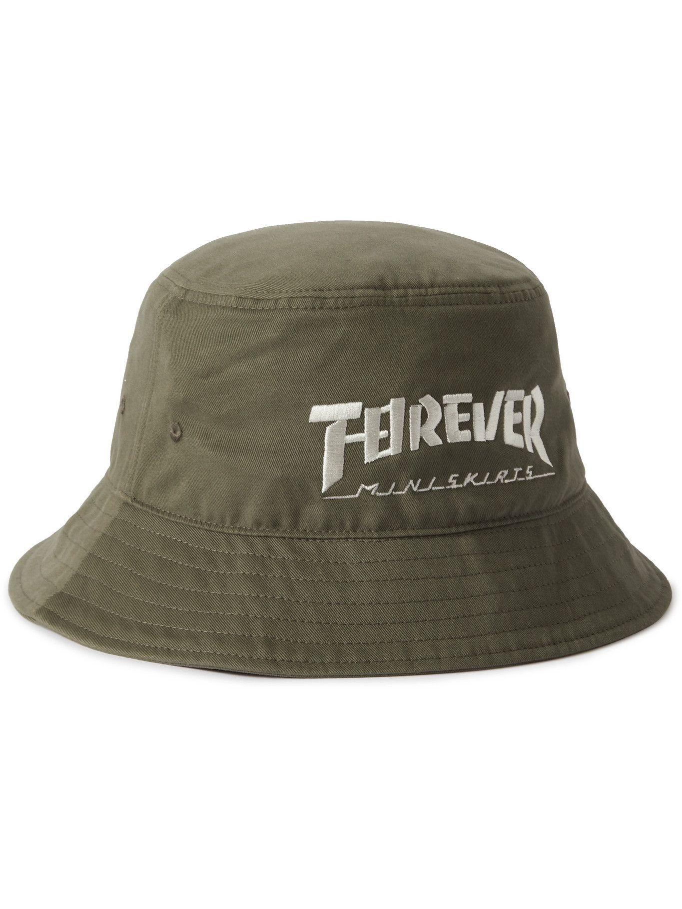 Photo: KAPITAL - Embroidered Cotton-Twill Bucket Hat