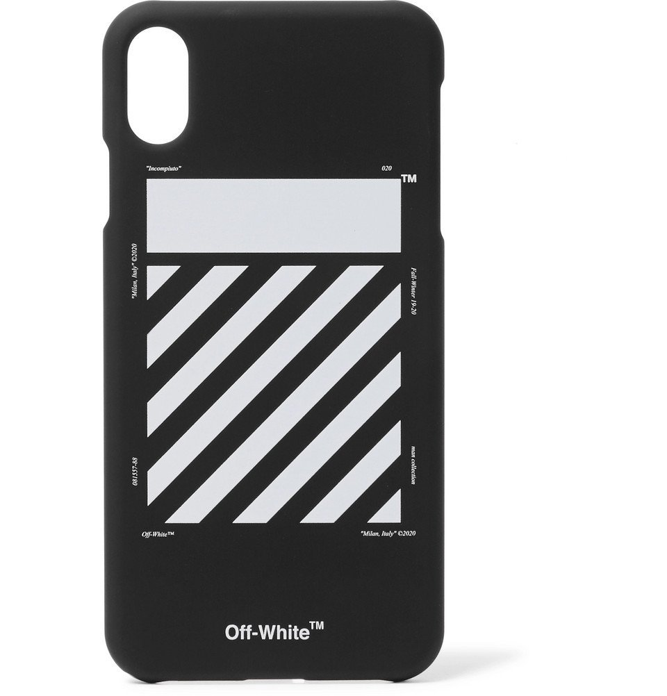 Photo: Off-White - Logo-Print iPhone XS Max Case - Black
