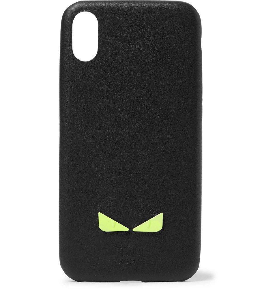 Photo: Fendi - Appliquéd Leather iPhone X Case - Black
