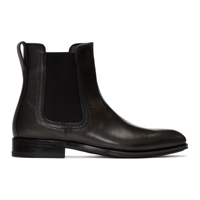 Photo: Salvatore Ferragamo Grey Darien Chelsea Boots