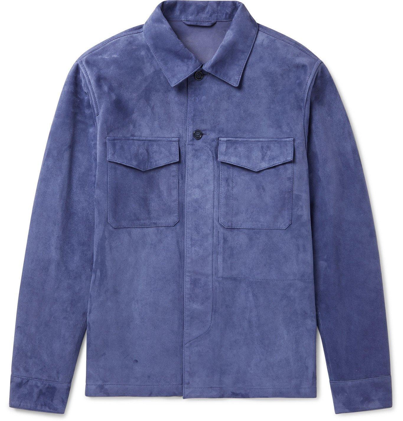 Photo: Valstar - Suede Overshirt - Blue