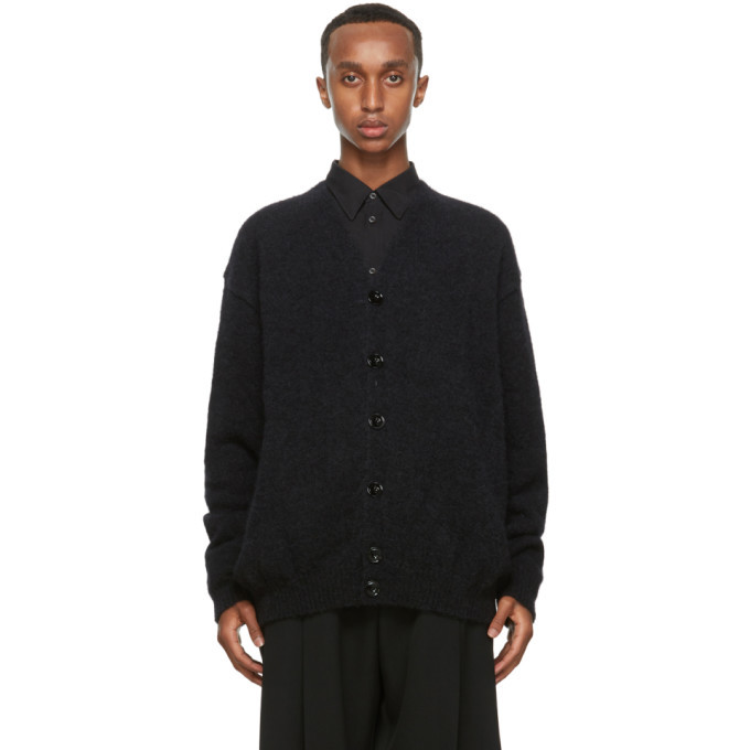 Photo: Lemaire Black Wool Hairy Oversized Cardigan