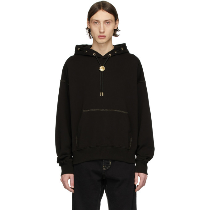 Photo: Versace Jeans Couture Black Bolo Tie Hoodie