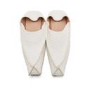 Acne Studios Off-White Snake Slippers