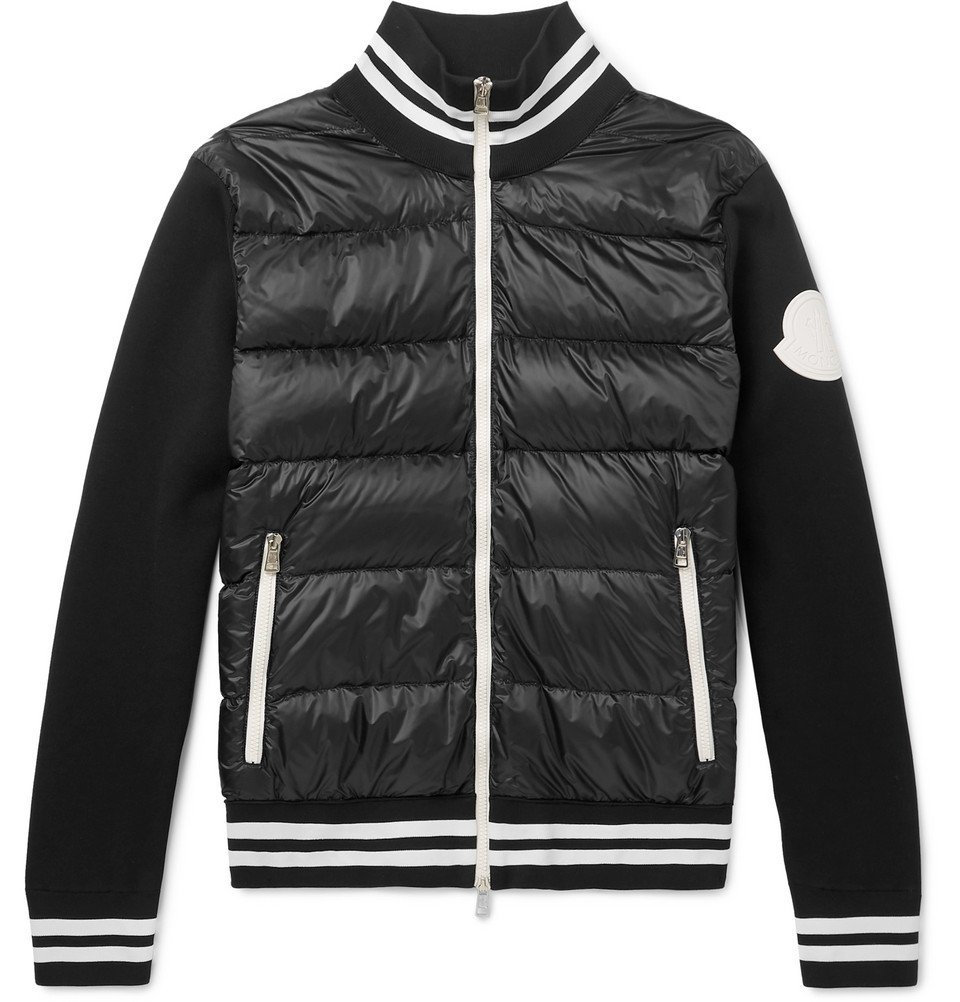 Photo: Moncler - Slim-Fit Quilted Shell and Jersey Down Jacket - Black