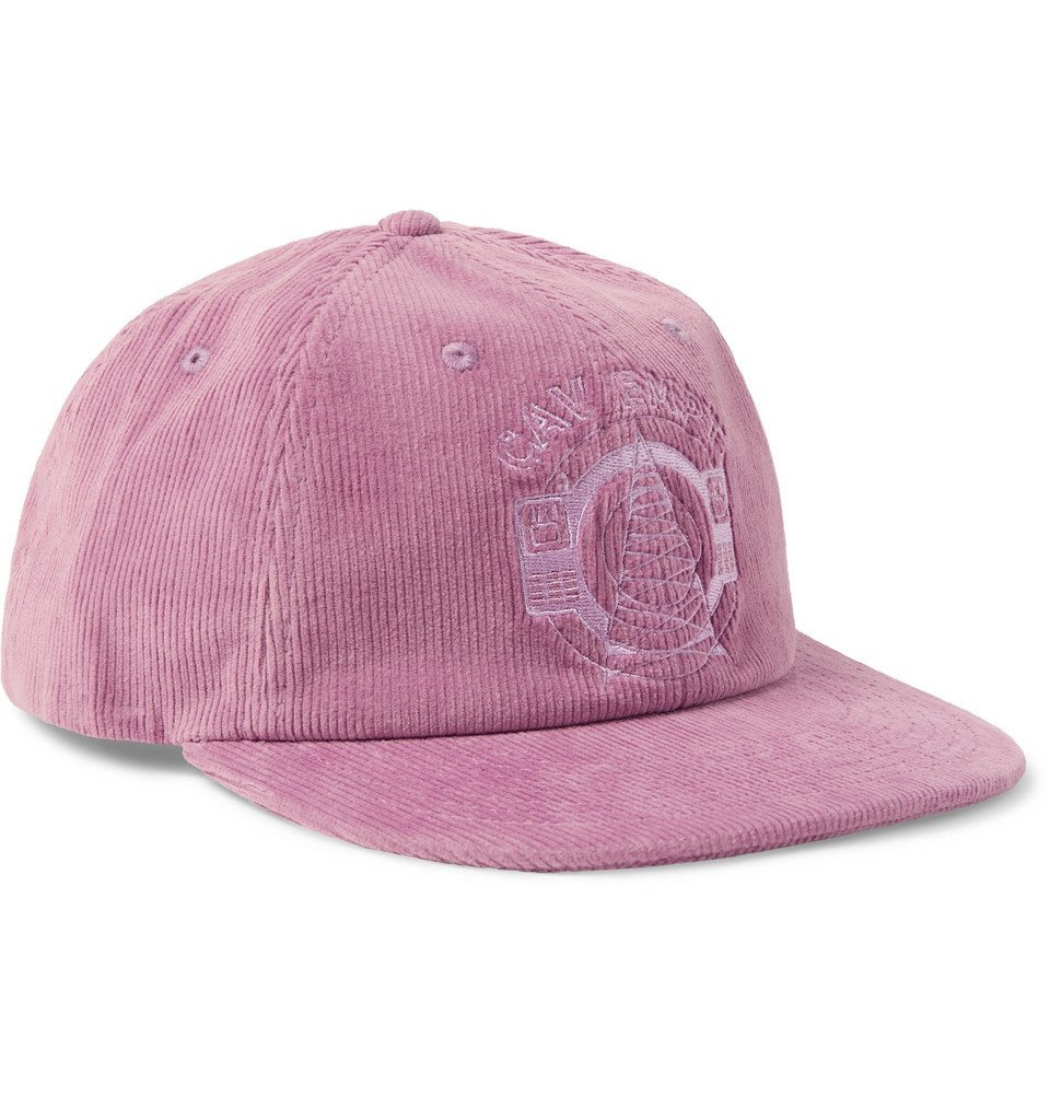 Photo: Cav Empt - Logo-Embroidered Cotton-Corduroy Baseball Cap - Pink