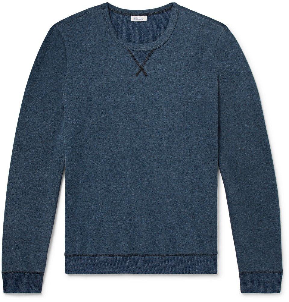 Schiesser - Hugo Mélange Cotton-Jersey Sweatshirt - Blue