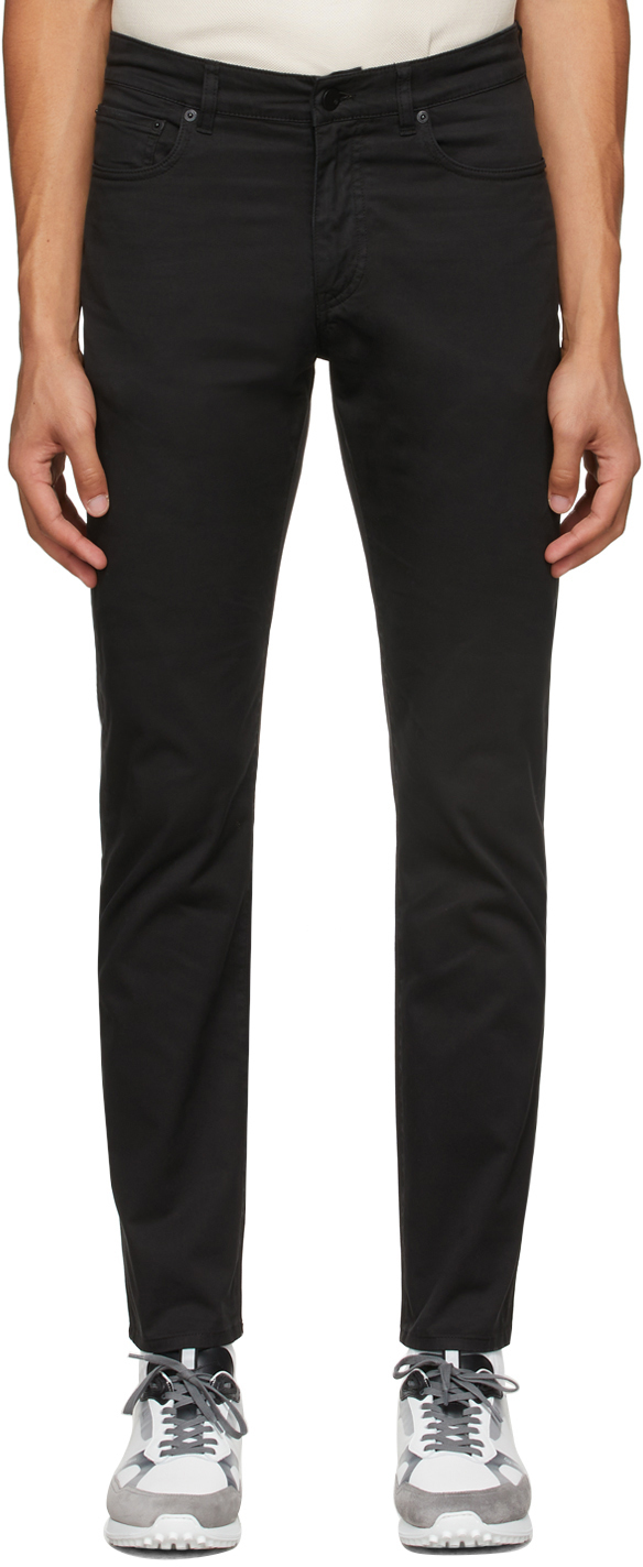Photo: Dunhill Black Cotton Twill Trousers