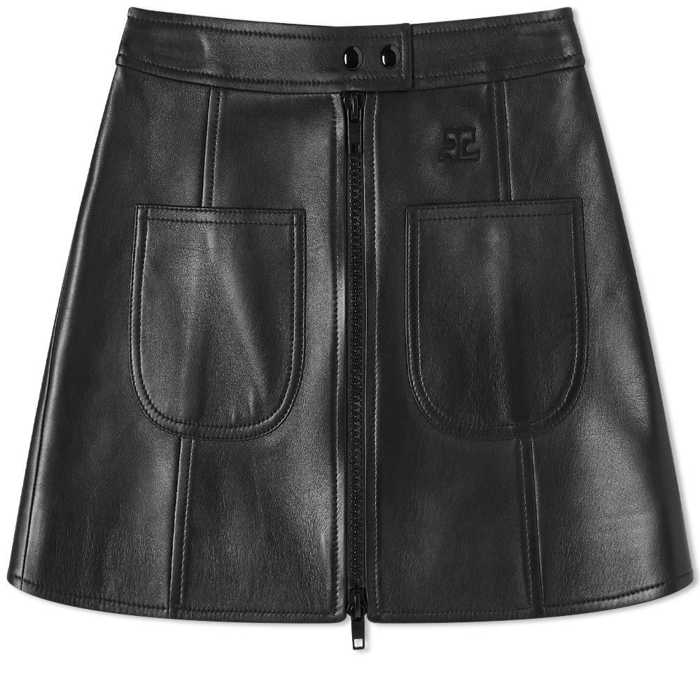 Photo: Courrèges Leather Mini Skirt