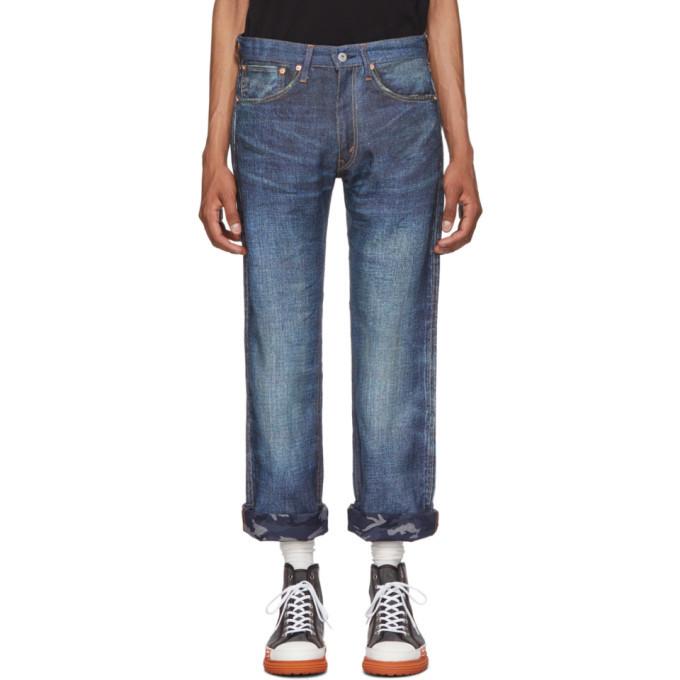 Photo: Junya Watanabe Indigo Levis Edition Printed Linen Jeans