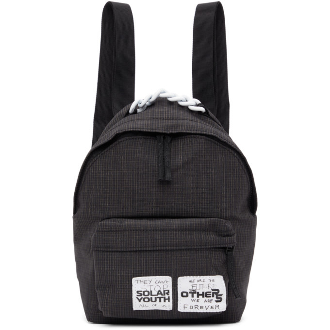Photo: Raf Simons Black Eastpak Edition Check Pakr Backpack