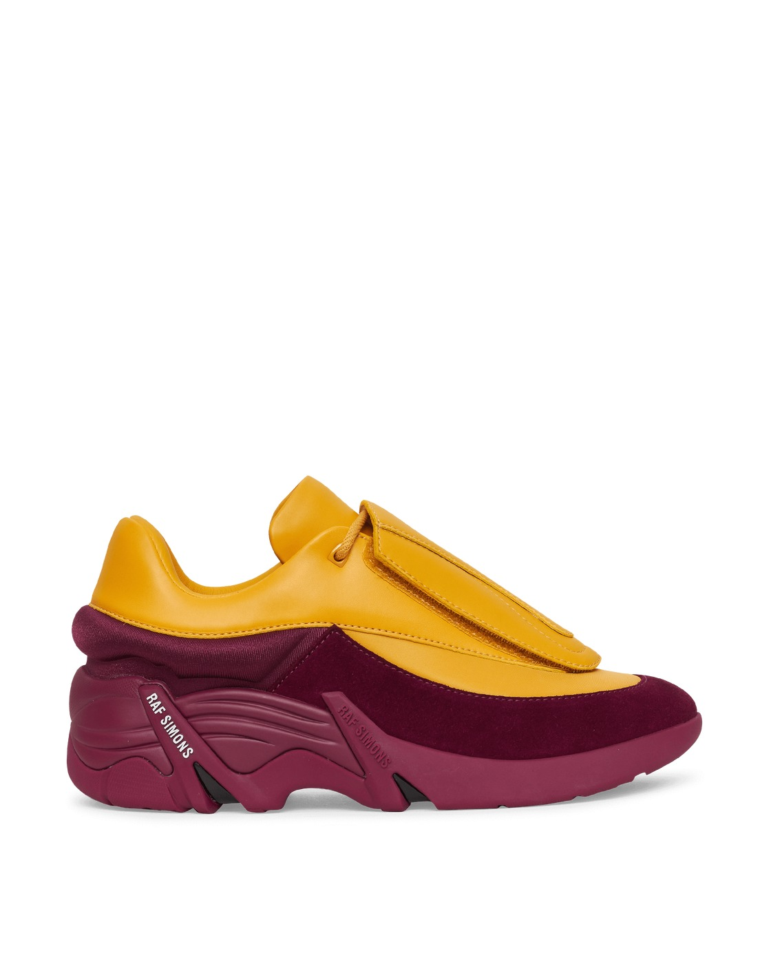 Photo: Raf Simons Runner Antei Sneakers Yellow/Aubergine