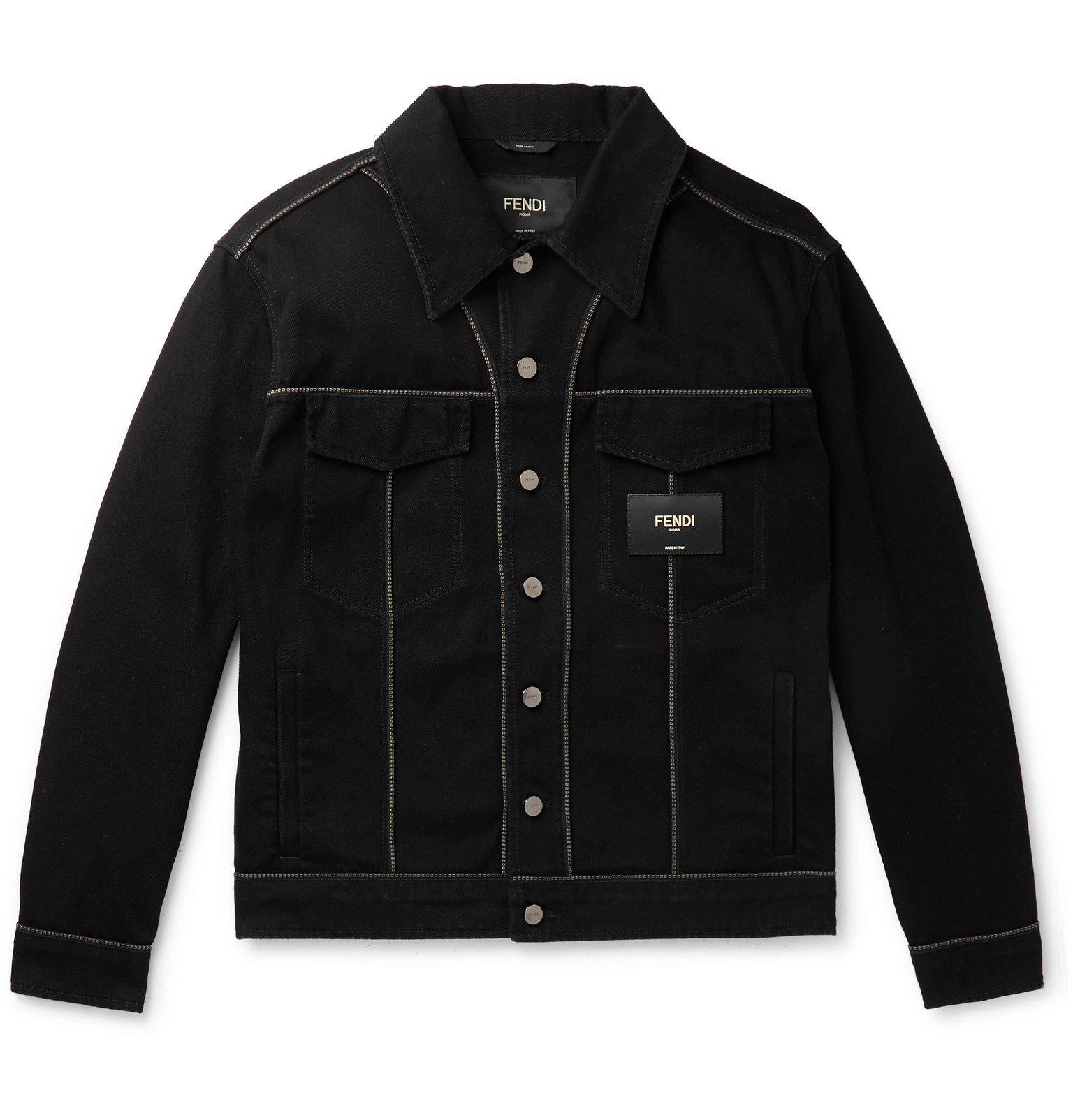 Photo: Fendi - Piped Denim Jacket - Black